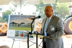 Cass Hatcher, Chief Facilities Development Officer for River Edge and Master of Ceremonies