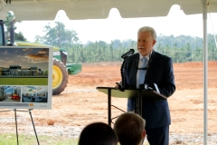David Sofferin speaking on behalf of DBHDD at the groundbreaking ceremony for the new River Edge Recovery Center in Macon.
