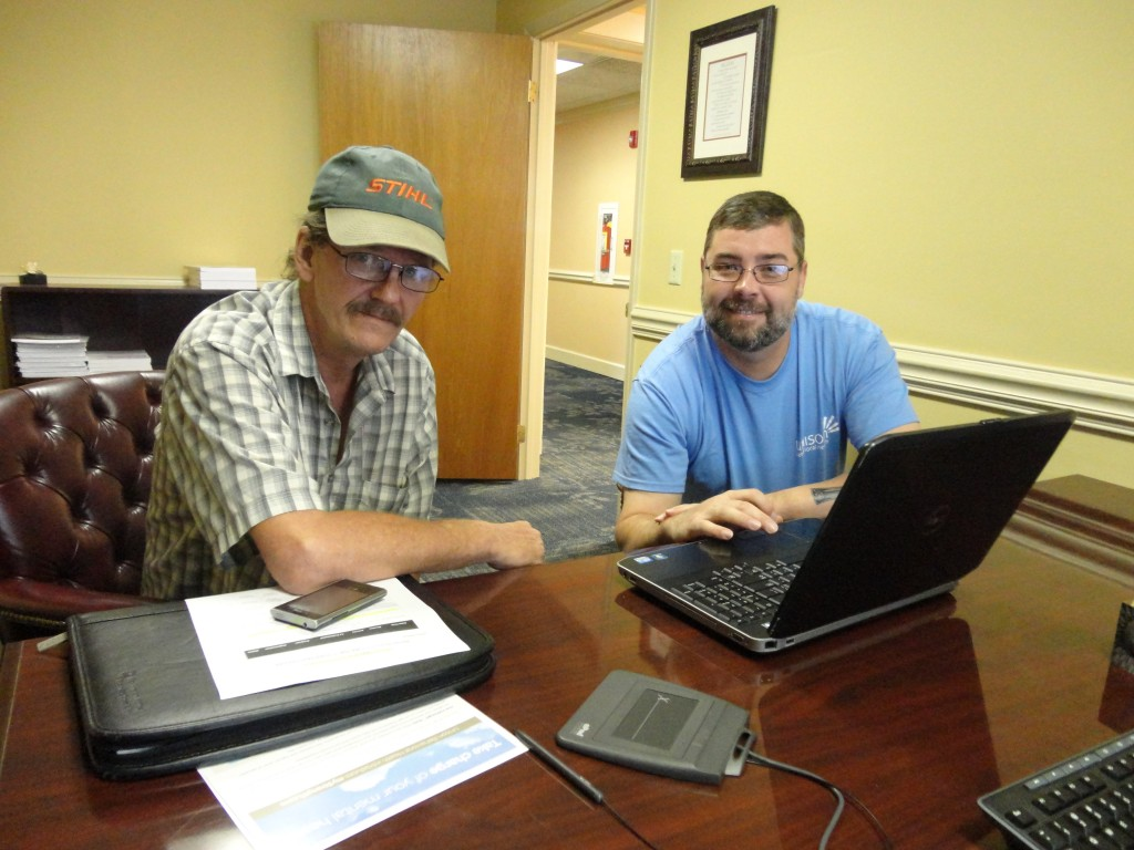 Jeffrey (left) succeeding in his personal recovery with myStrength